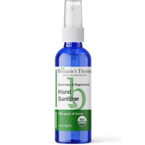 Organic Hand Sanitizer Rosemary Peppermint -- 2 oz