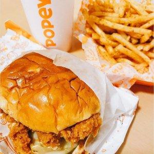 送炸鸡汉堡套餐+免运费Popeyes 每周五配送订单限时优惠