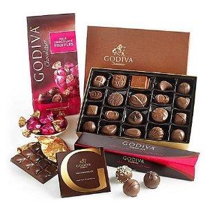 7.5折优惠  $18.74起限今天:Godiva 浓情巧克力礼盒特卖