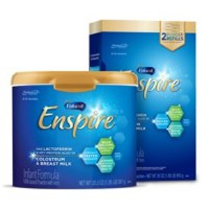 $89.56 立省$8 最接近母乳的配方奶Enfamil 高端 Enspire 婴儿奶粉20.5+30盎司套装,日期新鲜