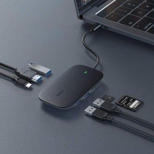 $25AUKEY USB C 扩展坞 7合1 支持100W电源