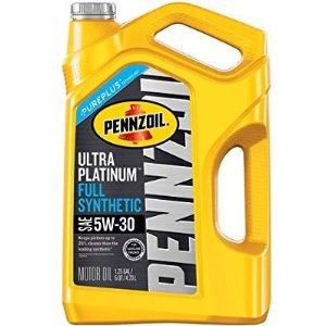 $14.97(原价$32.46)Pennzoil Ultra Platinum 5W-20 SN全合成机油 5夸脱