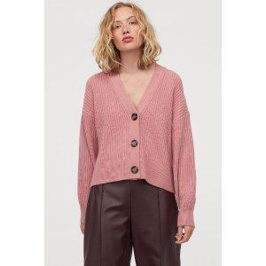 H&M罗纹针织开衫