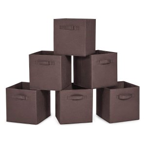 $7.19MaidMAX 可折叠家用收纳箱 6个装