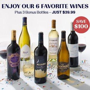 $39.99(原价$139.99)+送3瓶红酒独家:Laithwaite's Wine 6瓶精选葡萄酒优惠 立省$100