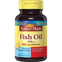 Nature Made 柠檬口味 鱼油 1200 mg. w. Omega-3 360 60粒