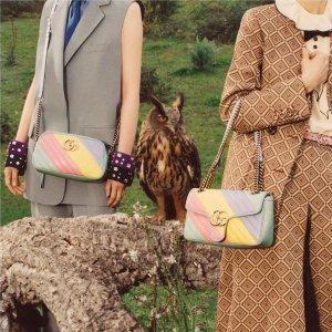 £485收老花小圆饼!Gucci 新款包包热卖中 双G Marmont、酒神包、1955马衔扣都有