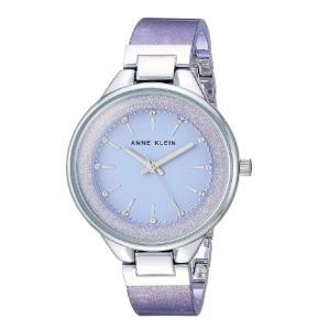 浪漫紫色¥279史低价:ANNE KLEIN 镶钻星空女士石英腕表