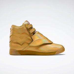 Reebok金色高帮运动鞋