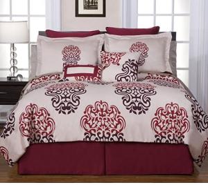 仅$56.24Pointehaven全棉豪华床上用品12件套 Full尺寸