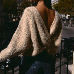 低至4折+免运费 手慢无Ba&sh 简约风毛衣 秒变法式女孩 露背设计款仅售€151