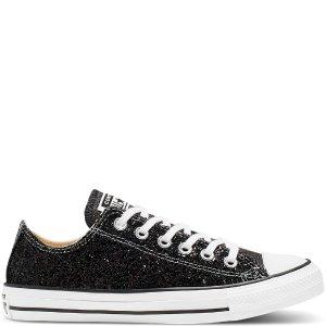 Converse 星河尘低帮帆布鞋 黑色