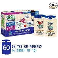 GoGo SqueeZ 酸奶 蓝莓+莓子口味 综合装 60袋装