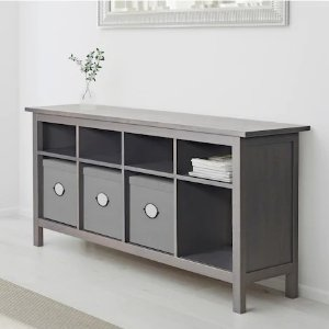 IkeaHEMNES Console table, gray dark gray stained, 61 3/4x15 3/4
