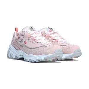 Skechers D'Lites 粉色女款老爹鞋