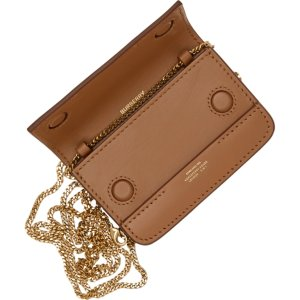 Burberry官网$580, 定价优势+折扣~Brown Mini Jody Card Holder Bag