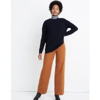Madewell Patchwork Cableknit Tunic Sweater