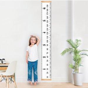 再降! $10.59MIBOTE 儿童成长身高测量尺,悬挂式