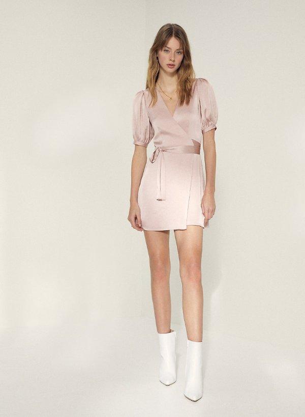 lune 气质缎面连衣裙