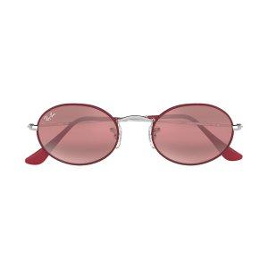 Ray-BanOVAL玫瑰粉椭圆墨镜