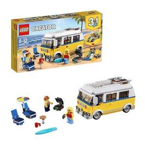 $24.99(原价$34.99)史低价:LEGO Creator 系列 3合1 阳光海滩房车 31079
