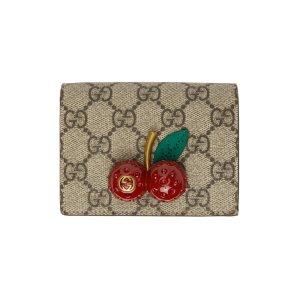 GucciBeige & Red Supreme 樱桃卡包