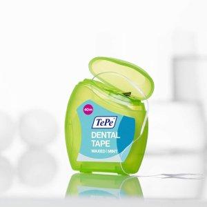 40m仅€6.63 牙缝清理很重要!TePe 宽牙线 更宽更贴合 不容易伤牙床 坚韧耐用不勒手