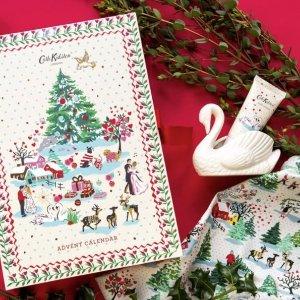 9.5折 仅售£37.95Cath Kidson 2021 圣诞日历开售 24件可爱少女心单品!