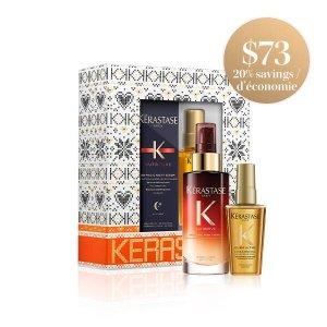 Kerastase两大明星产品8小时护发精华+黄金发油套装