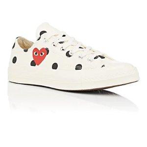 COMME des GARCONS白色波点鞋