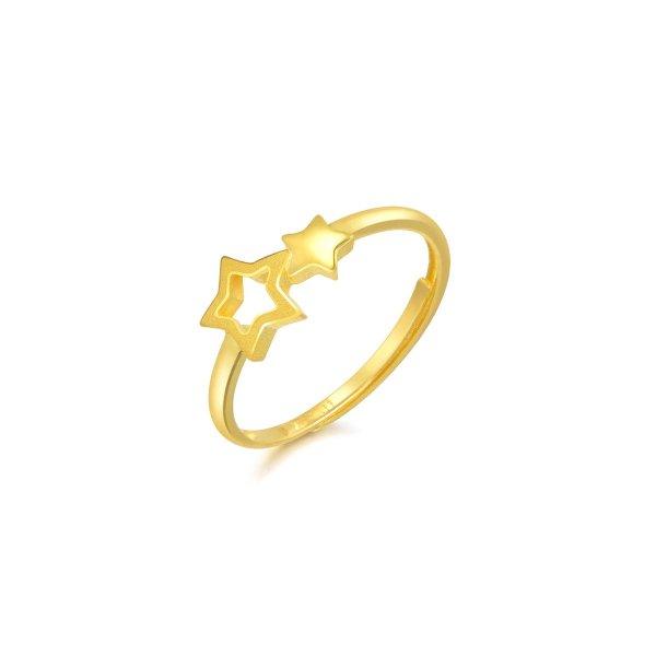 足金星星戒指