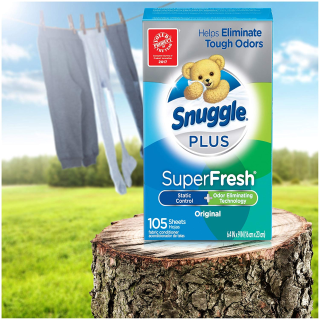 Snuggle Plus Super Fresh Fabric Softener Dryer Sheets with Static Control and Odor Eliminating Technology, 105 Count