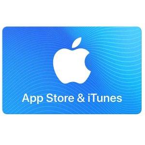 $42.99 收$50, $84.99 收$100Apple 苹果App Store&iTunes 礼卡 8.4折