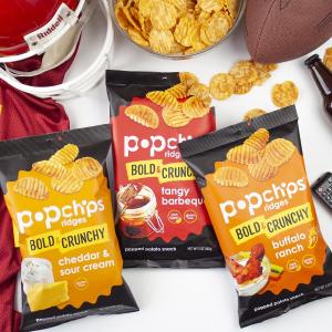 $10.62 一包只需$0.44Popchips Ridged 薯片综合口味 0.8 oz 24包