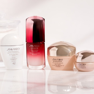 Get 3 Free Perfect-Sized Poucheswith your $50 Shiseido purchase! @ macys.com