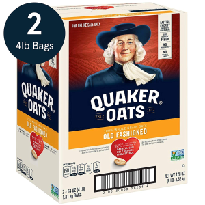 $5.39Quaker Old Fashioned Rolled Oats Two 64oz Bags in Box