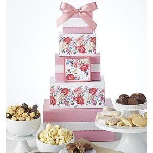 Bloomin' Spring Sweets Tower | 1800Baskets.com