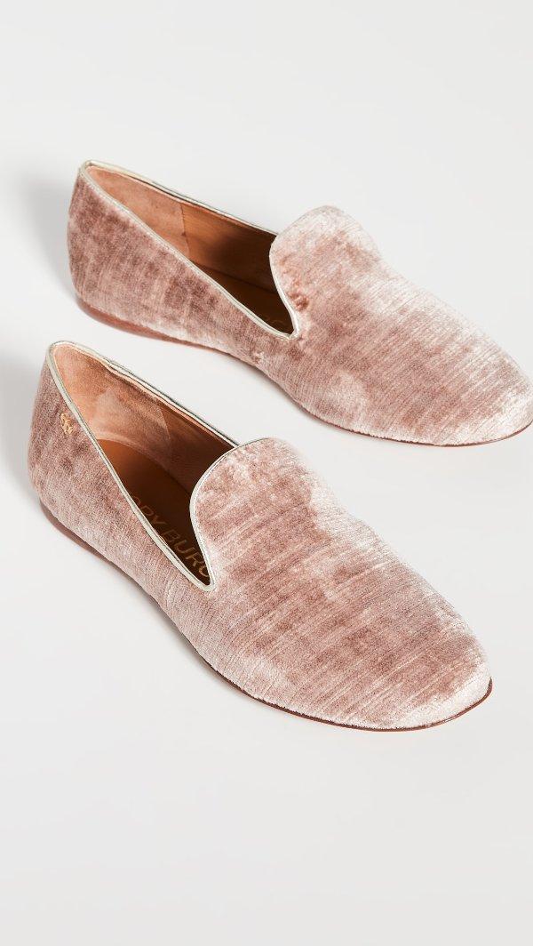 5mm Smoking丝绒平底鞋