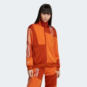Adidas拼色拉链外套
