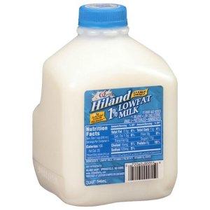 Hiland 1% Lowfat Milk, 1 qt - Walmart.com