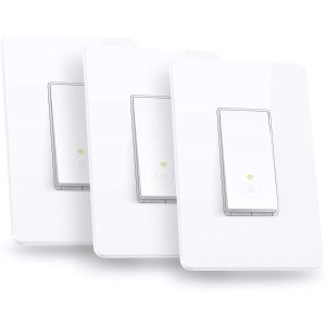 Kasa Smart Light Switch by TP-Link 3-Pack HS200P3
