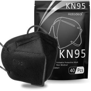 $6.12 平均$0.15/只Chengde KN95 口罩 40只 黑色 FDA白名单认证