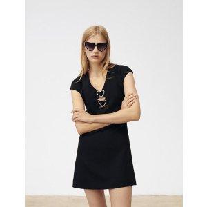 Maje爱心小黑裙