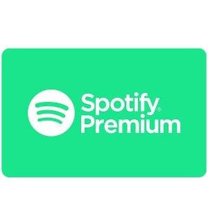 一年会员 现价€99(原价€119)Spotify Premium会员特价 买10送2