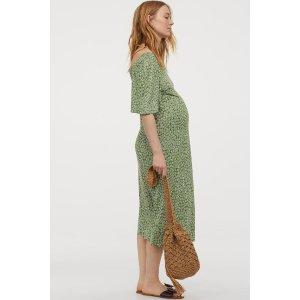 H&M孕妇 碎花连衣裙