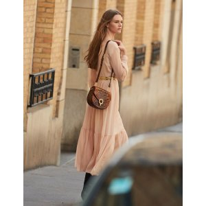 SandroLong Pleated Dress With Long Sleeves