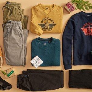 低至6折Dockers 全场休闲时尚男士服饰热卖