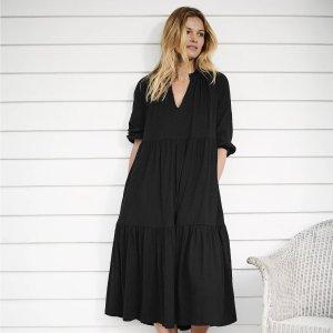 低至3折+上新 羊绒毛衣$47折扣升级:The White Company 年中大促 封面有机棉针织裙$55