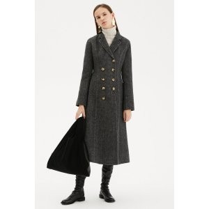 Genuine peopleDouble Breasted Tailored Wool Knit Coat