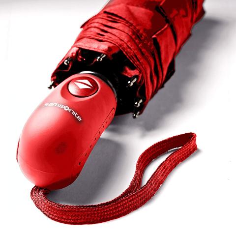 $19.99(原价$34.99) 史低5.7折手慢无:新秀丽 防风自动雨伞 收靓丽红色款 下单锁价
